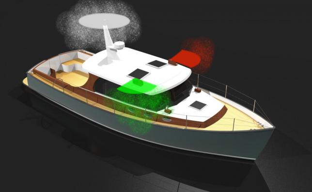 Motorboot >7m <110m: rsl + boordlichten of heklicht en toplicht ipv rsl